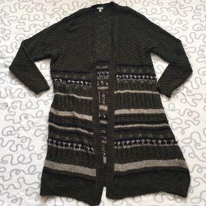 Ecoté Chunky Loose Knit Long Cardigan